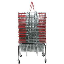 Red Wire Baskets Capacity 21 Litres x20 Plus Mobile Storage Plinth