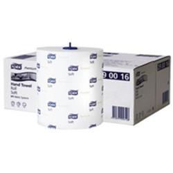 Tork Premium Hand Towel Roll 100m White Ref 290016 (Pack 6)
