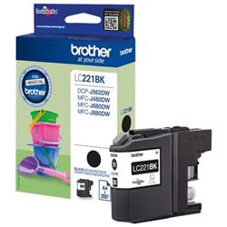 Brother LC221BK Inkjet Cartridge Black Ref LC221BK
