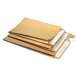 Buste a sacco con soffietto 5 star - 110 g/mq - 23+4x33 cm - avana - conf. 250
