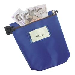 Cash Bag Large Blue Ref CB2B