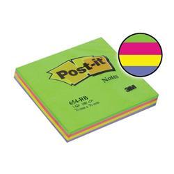 Post-it Rainbow Pads 76x76mm Spring Ref 654-RBSP (Pack 12)