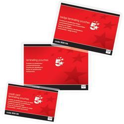 Pouches per plastificatrici 5 Star - formato A7 - 125 micron per lato - conf. 100