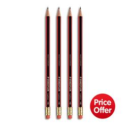 Staedtler 110 Tradition HB Pencil with Rubber Tip Eraser Ref 112HBRT - Pack 144 - Price Offer