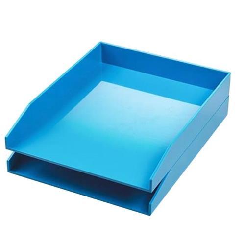 Buy Avery ColorStak Letter Tray Blue Ref CS102 (Pack 2