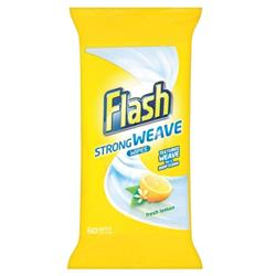 Flash All Purpose Cleaning Wipes Lemon Fragrance (Pack 120)
