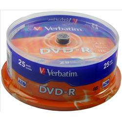 Verbatim DVD-R Spindle Ref 43522-1 (Pack 25)