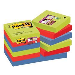 Post-it Super Sticky Notes Marrakesh 47.6x47.6mm Ref 622-12SSMAR-EU [Pack 12]