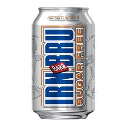 Irn Bru Sugar Free Soft Drink Can 330ml (Pack 24)