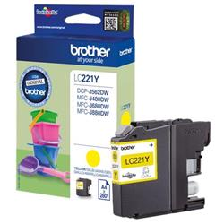 Brother LC221Y Inkjet Cartridge Yellow Ref LC221Y