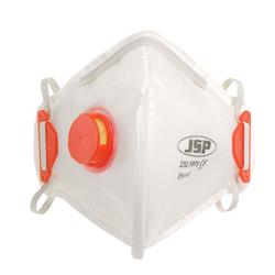 JSP Disposable Mask Valved Fold-flat FFP3 Class 3 EN149:2001 & A1:2009 Ref BEB130-101-000 [Pack 10]