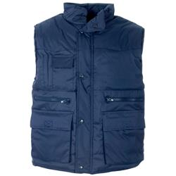 Supertouch Body Warmer Polyester with Padding & Multi Pockets Large Navy Ref 58693