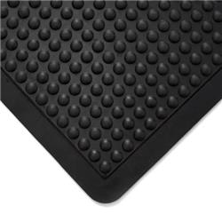 Coba Mat Rubber Anti Fatigue Textured Anti Slip Bevelled Edge Bubble Pattern 900x1200mm Ref BF010702