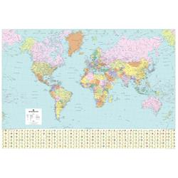 Map Marketing World Political Map Framed Ref FRAM-BEX