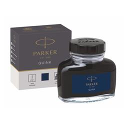 Parker Quink Bottled Ink for Fountain Pens 57ml Black/Blue Ref 1950378