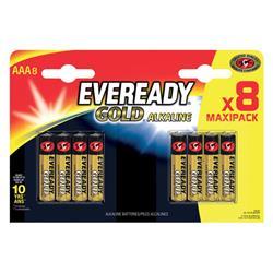 Eveready Gold Alkaline Batteries AAA/LR03 Ref E300692200 [Pack 8]