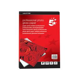 5 Star Office Photo Inkjet Paper Gloss 280gsm A4 White [50 Sheets]