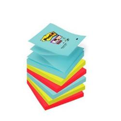Post-It Super Sticky Z-Notes Super Strong 76x76mm Aquawave Neon Green Poppy Ref 70005291649 [Pack 6]