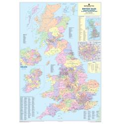 Map Marketing UK Counties & Districts Map Framed Ref FRAM-BIC