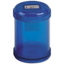 5 Star Office Pencil Sharpener Plastic Canister Max. Diameter 8mm Single Hole Coloured [Pack 10]