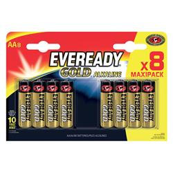 Eveready Gold Alkaline Batteries AA/LR6 Ref E300691700 [Pack 8]