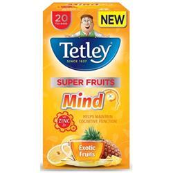 Tetley Super Fruits Tea MIND Exotic Fruits with Zinc Ref 4067A [Pack 20]
