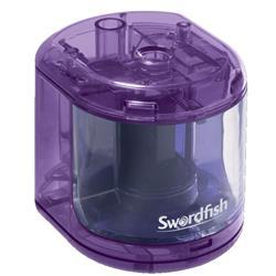 Swordfish Battery Operated Pencil Sharpener Purple Ref 40003