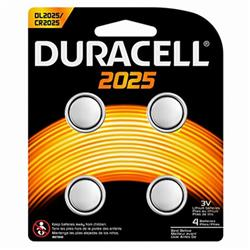 Duracell CR2025 Lithium coin Battery Silver Ref 81575810 [Pack 4]