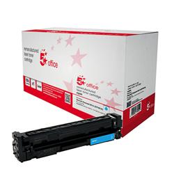 5 Star Office Remanufactured Laser Toner Cartridge 1400pp Cyan [HP No. 201A CF401A Alternative]