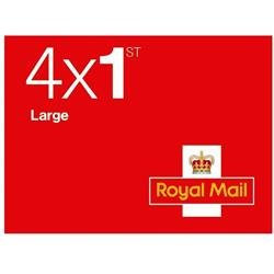 Royal Mail First Class Large Letter Stamps [25 x Book of 4]