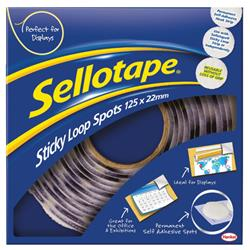 Sellotape Removable Loop Spots (Pack 125) - 3 for 2