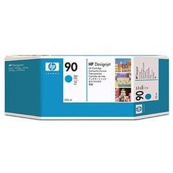 HP 90 Cyan Inkjet HP NO90 Cyan Ink CartRDIGE 225ML