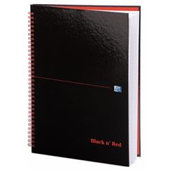 Black n Red Book Wirebound 90gsm Ruled 140pp A4 Ref 100103711 (Pack 5)  - 2 for 1