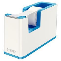 Leitz WOW Duo Colour Tape Dispenser Blue Ref 53641036