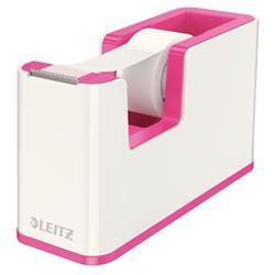 Leitz WOW Duo Colour Tape Dispenser Pink Ref 53641023