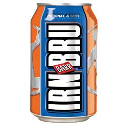 Irn Bru Soft Drink Can 330ml (Pack 24)