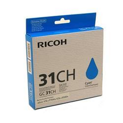Ricoh GC31HC Cyan Gel Ink Cartridge (Yield 4,000 Pages)