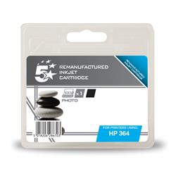 5 Star Office Remanufactured Inkjet Cartridge Page Life 130 Photos Black [HP No. 364 CB317EE Alternative]