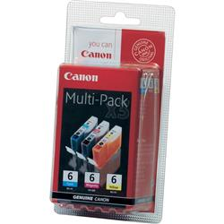 Canon BCI-6 Inkjet Cartridge Cyan/Magenta/Yellow 3 Colour Multipack Ref 4706A029
