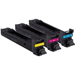 Konica Minolta Laser Toner Cartridge Value Pack High Yield Page Life 8000pp C/M/Y Ref A0DKJ52