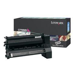 Lexmark Laser Toner Cartridge Return Program High Yield 10000pp Magenta [for C770 C772] Ref C7700MH
