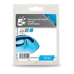 5 Star Office Remanufactured Inkjet Cartridge Page Life 300pp Cyan [HP No. 364 CB318EE Alternative]