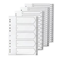 5 Star Elite File Index Grey Tabs Polypropylene 1-5 White