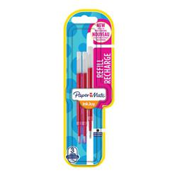 Refill per penne Inkjoy Gel Papermate - tratto 0,7 mm - rosso - conf. 3 pezzi