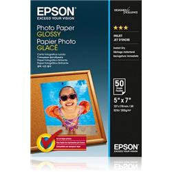 Epson Premium Photo Paper Semi-gloss 200gsm 130x180mm Ref C13S042545 [Pack 50]