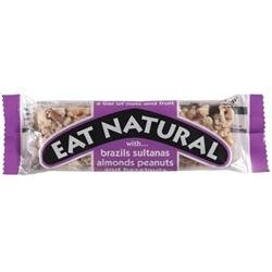 Eat Natural Energy Bar made from Brazil Nuts Sultanas Almonds Peanuts and Hazelnuts 50g [Pack 12]