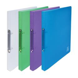 Elba 2nd Life 2 Ring Binder 20mm Spine Recycled Polypropylene A4 Assorted Ref 400084984 [Pack 4]