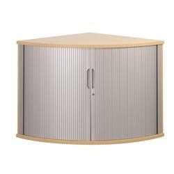 Sonix Tambour Corner Cupboard 800mm Rich Beech