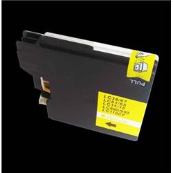 Alpa-Cartridge Compatible Brother MFC290C Yellow Ink Cartridge LC1100Y also for LC980Y