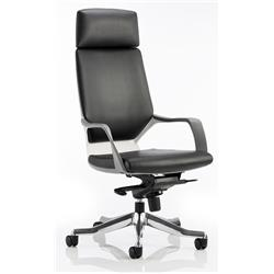 Adroit Executive Chair Static Arms Flat Packed Bonded Leather Black Ref KC0228